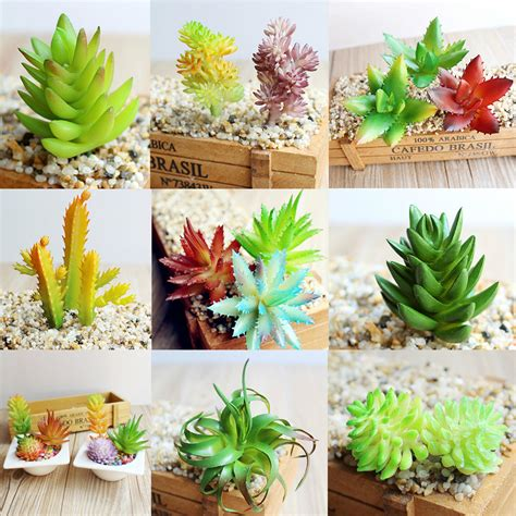 decorative floral arrangements home 7 kinds artificial succulents plants grass desert