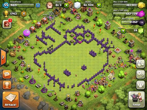 coc layout th8 new coc best th8 farming base