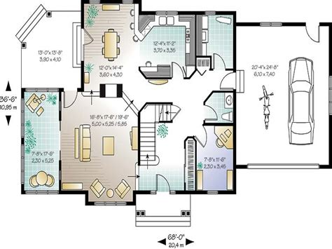 small home floor plans open open concept house plans
