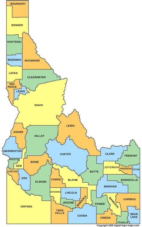 idaho county map idaho county map id counties map of idaho
