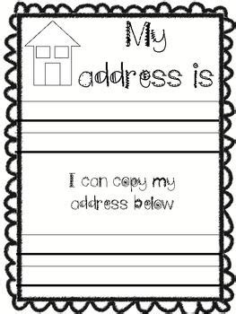 free what s my address and phone number kindergarten