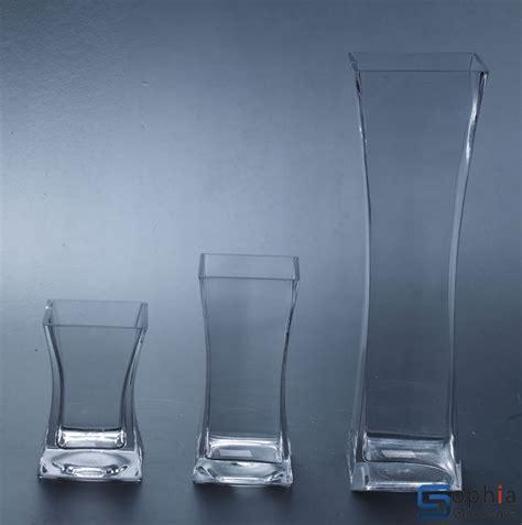 Square Glass Vases by Square Glass Vase Sfe001 003 Sophiaglassware Glass