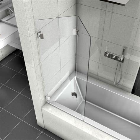 badewannen duschabtrennungen duschabtrennung als faltwand f 252 r badewannen aus 8 mm glas