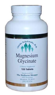 magnesium glycinate the wellness shoppe