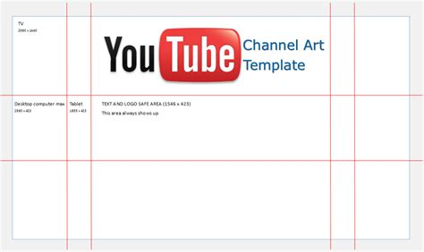Youtube Channel Art Template For Microsoft Publisher Channel Template