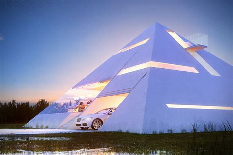 space house pyramid house is not an illusion just a futuristic living