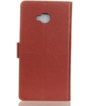Litchi Grain Asus Zenfone 4 Selfie Zd553kl asus zenfone 4 selfie pro litchi stand bruin gsmpunt nl