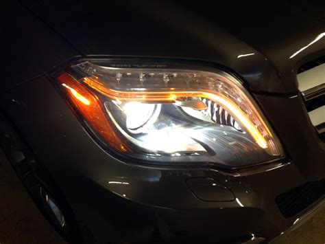 mercedes headlights at night 2013 glk 350 xenon headlights mbworld org forums