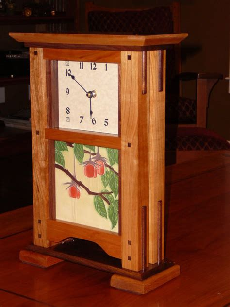 Mission Style Mantel Clock Plans Rabbet Joint Cabinet