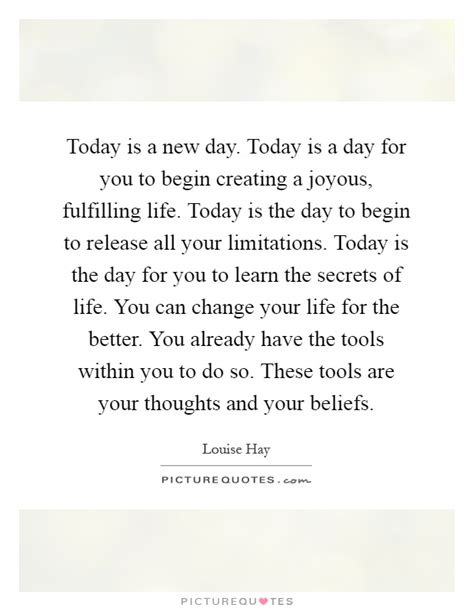 Today Is A Day today is a new day quotes sayings today is a new day