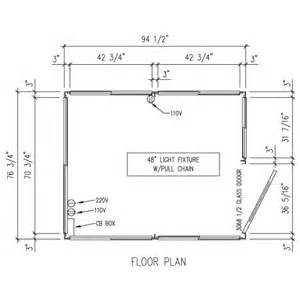 Drawing A Door On A Floor Plan portafab model 68 guard booth and shelter pricing and cost