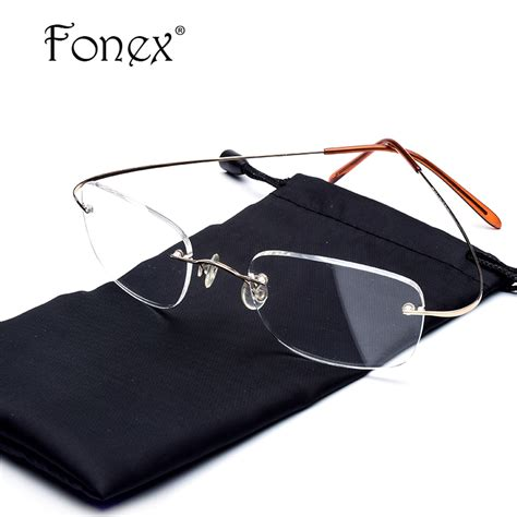 Supplier Frame Kacamata Wanita Fashion A2231 rimless kacamata mode beli murah rimless kacamata mode