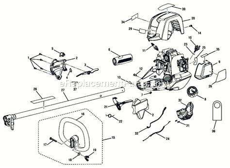 ryobi string trimmer parts diagram ryobi ry34001 parts list and diagram ereplacementparts