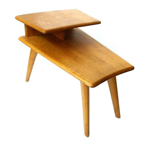 heywood wakefield table midcentury heywood wakefield two tier end table at 1stdibs