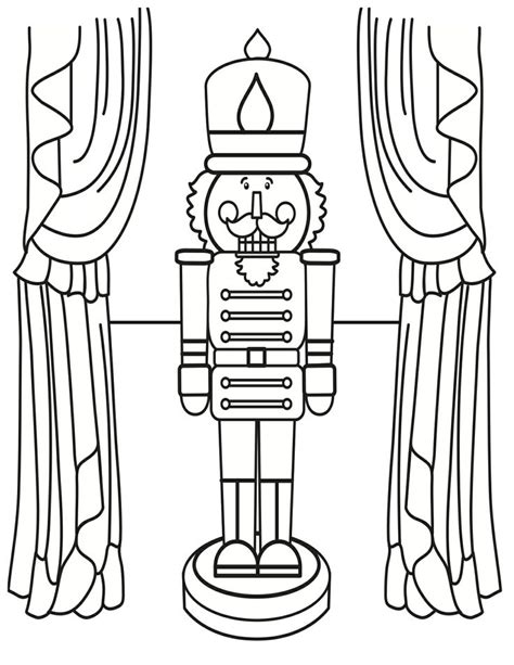nutcracker template free printable nutcracker coloring pages for