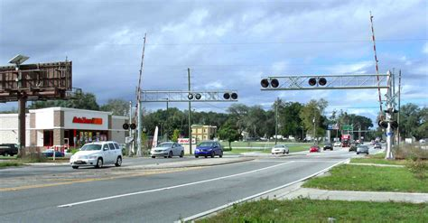 at the crossing railroad crossing work will shut busy section of
