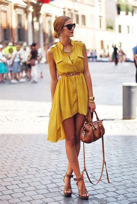 Dress Eprise Mustard style shirtdresses 2018 fashiongum