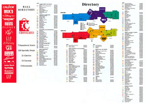 Garden State Mall Store Map Crossgates Mall Directory 1995 Flickr Photo