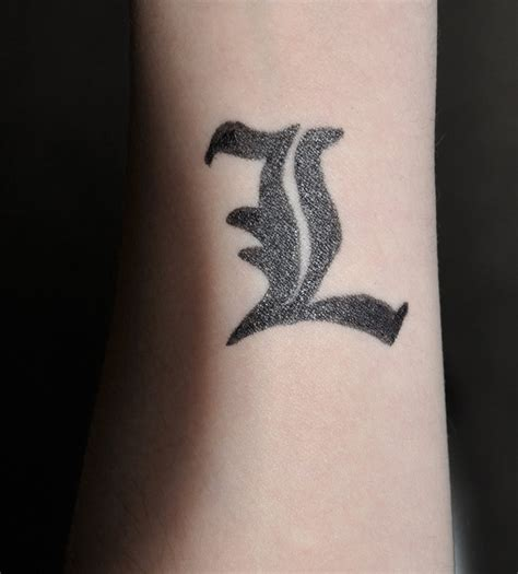 fake l tattoo by dragon flame13 on deviantart