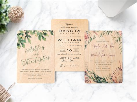 wood wedding invitations wooden wedding invitations now available at woodsnap