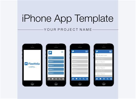 iphone app design templates iphone app template on flowvella presentation software