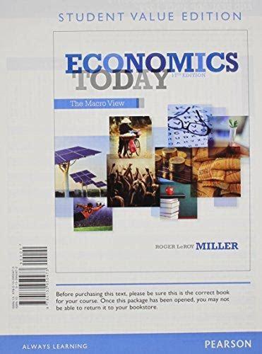 economics today 17th edition economics today the macro view student value edition