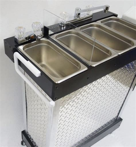 portable shoo sink cold water portable sink electric concession sink 3 compartments