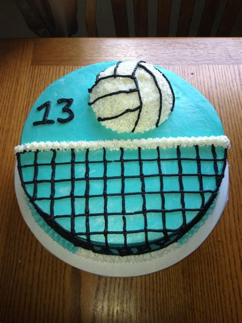 cool volleyball themed cake ideas