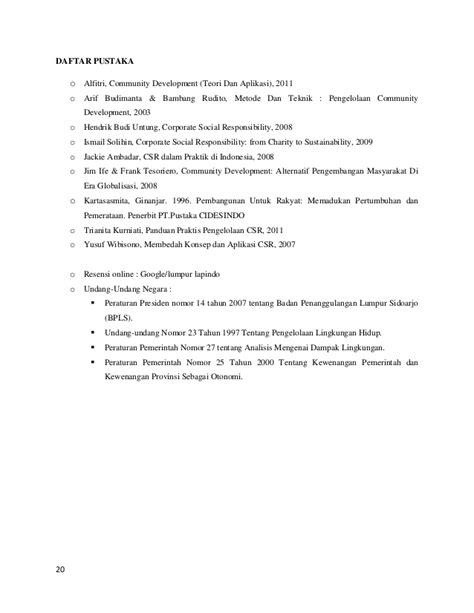 Corporate Social Responsibility Hendrik Budi Untung program csr lapindo