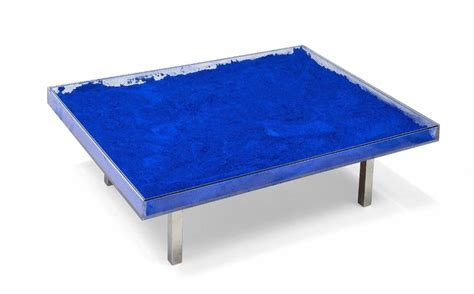 yves klein blue table yves klein 1928 1962 table bleue 1963 alain r truong
