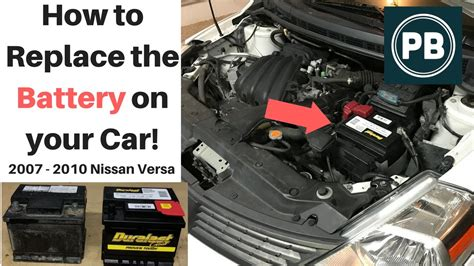 nissan versa battery how to replace the battery on your car nissan versa