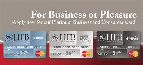 consumer platinum credit card home federal bank