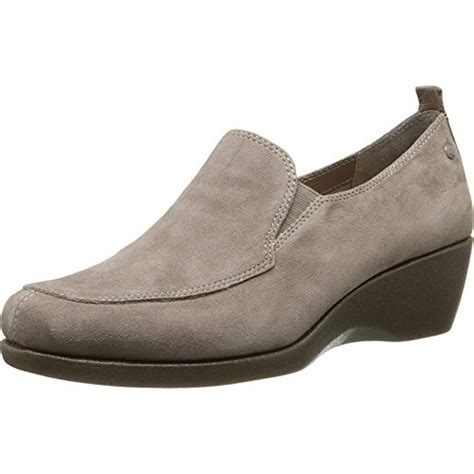 loafer heels hush puppies 4469 womens vann cleary suede loafer slip on