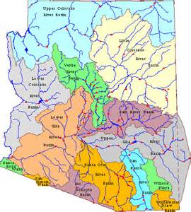 map of arizona rivers arizona watershed information