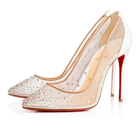 christian louboutin follies strass 100 mesh pigalle