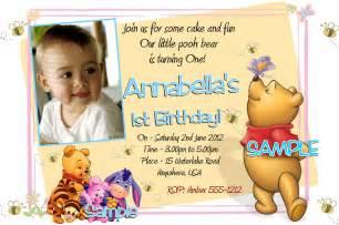 Winnie The Pooh Birthday Invitations Templates by 40th Birthday Ideas Winnie The Pooh Birthday Invitation