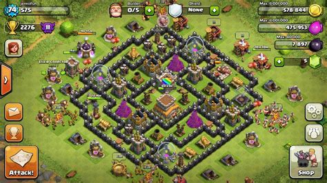 layout hybrid th8 th8 clash of clans goonsquadelite