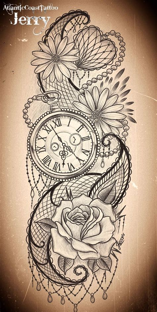 rose tattoo designs pinterest tatto ideas 2017 pocket watch and flowers tattoo design