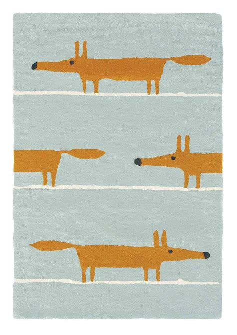 mr rugs mr fox rug by scion aqua wallpaper direct