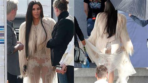 con falda y sin ropa interior kim kardashian y su vestido transparente para oceans eight