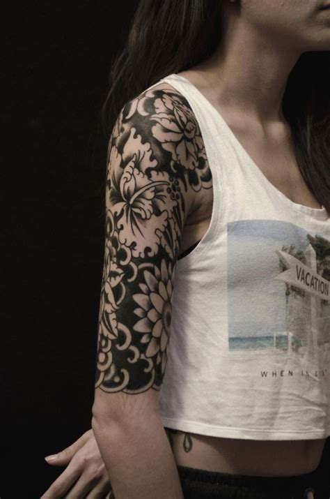 imagenes tatuajes media manga fotos de tatuajes media manga elegante tatuaje brazo