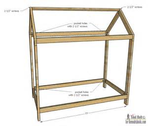 Childrens Bed Frames Remodelaholic House Frame Twin Bed Building Plan