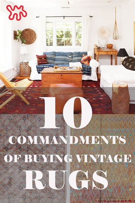 10 Commandments Rug - the 10 commandments of buying vintage rugs shopping