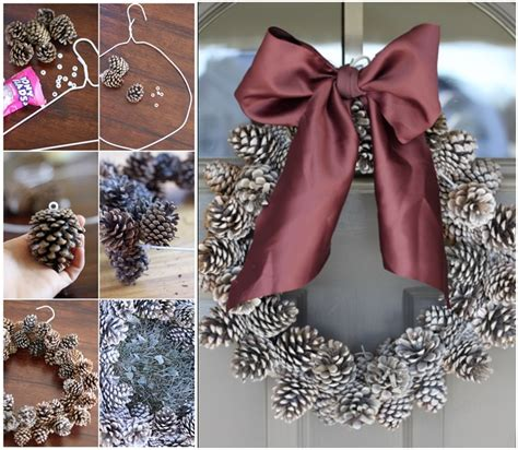 wreath diy diy pinecone wreath