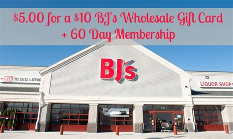 Bj Gift Card - discounted bj s gift card 5 00 for 10 bj card living rich with coupons 174