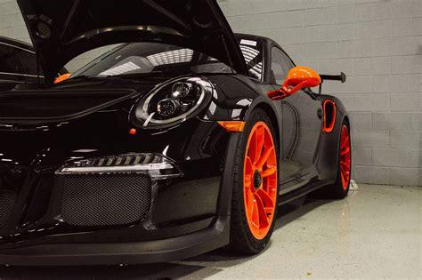 black porsche 911 gt3 unique black and orange porsche 911 gt3 rs in illinois