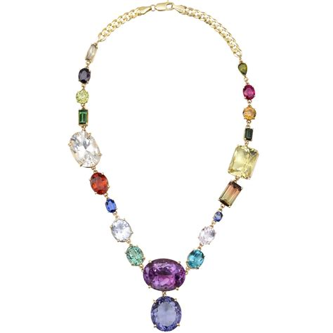 Gemstone Necklace estate multicolored gemstone necklace betteridge