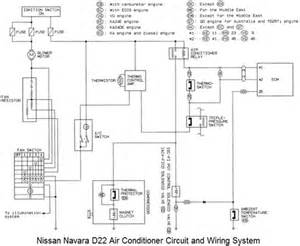 nissan navara d22 air conditioner circuit and wiring system