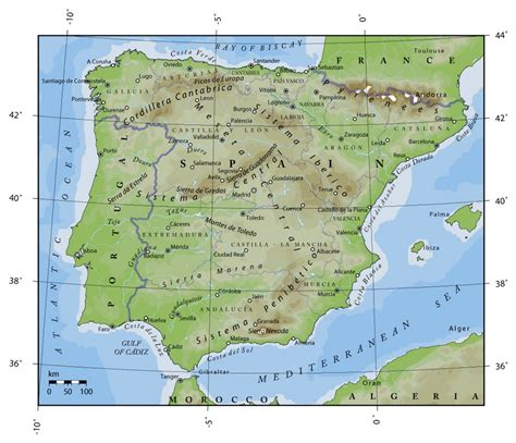europe elevation map elevation map of portugal and spain portugal europe