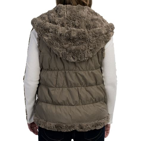 Lust List Shearling Puffer Vest by Silky Puffer Hooded Faux Fur Vest For Save 90